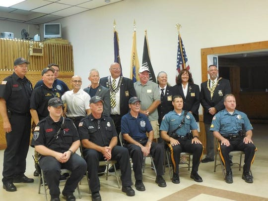 Officials from the Elks, government, Millville Fire