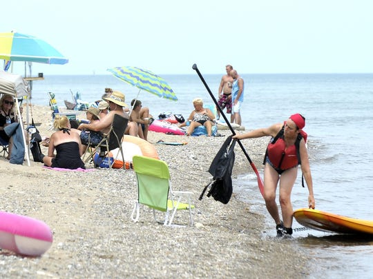 About an hour and fifteen minutes outside of Detroit, Lakeport Beach is pleasant if you're sun-soaked.