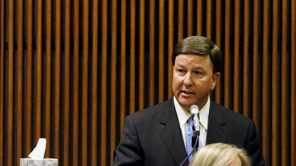 U.S. Rep. Mike Rogers talks as a character witness