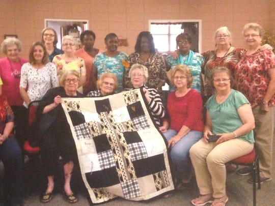 The Lumberton Community Prayer Quilt Ministry is comprised of about 25 members from the Lumberton community.