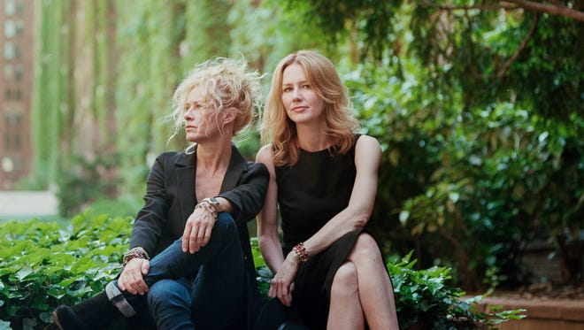 "Siblings Shelby Lynne (left) and Allison Moorer each have won acclaim for their alt-country/Americana songs.  In 2017, after years of occasionally appearing on stage together, they released a full collaboration, ""Not Dark Yet.""  Lynne and Moorer will perform their songs at the Newton Theatre tomorrow, February 17."