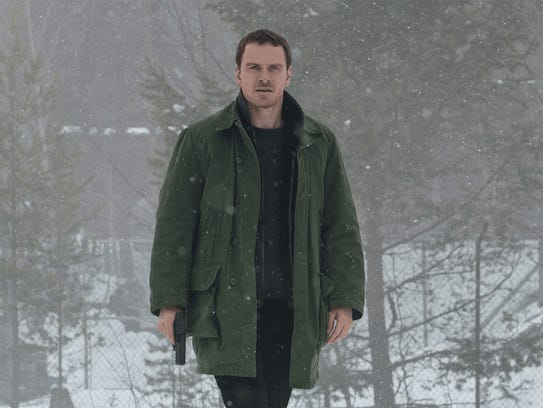 "Michael Fassbender in ""The Snowman."""