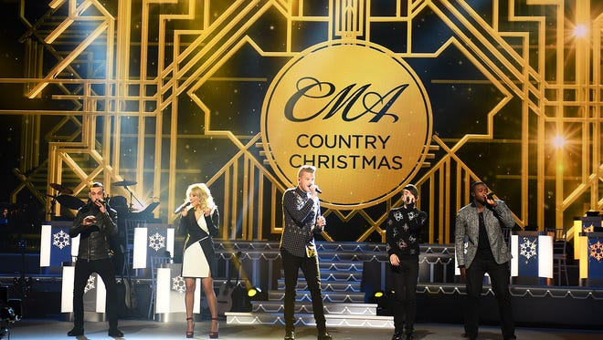 Pentatonix performs during CMA's Country Christmas special taping at the Grand Ole Opry on Sat.  Nov. 7, 2015.