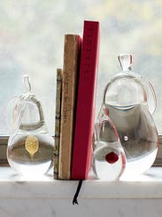 Who can deny the elegance of these glass bookends?