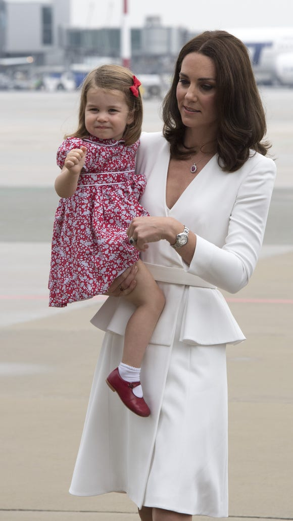 Mommy and daughter matching, so cute!