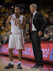 Southern California coach Andy Enfield (right) and