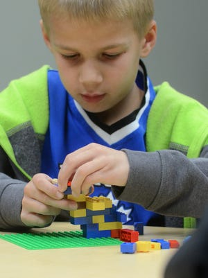 The Northville District Library isn't all about books, as Joshua Dreyer found out during the library's monthly Lego time.