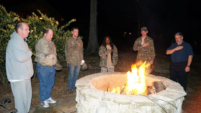 Warrior Bonfire Project gives Purple Heart veterans the chance to connect with others who have been through similar experiences.
