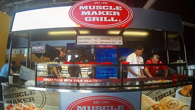 The healthy Woodbridge-based Muscle Maker Grill restaurant chain soon will open two kiosks at MetLife Stadium, home of the Giants and Jets football teams.
