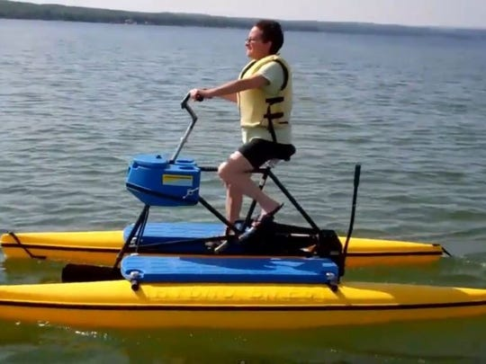 HydroBike brand water bikes are available for rental at the Billy Lush Board Shop and also at Norris Lake from Norris Paddling Adventures in Rocky Top.