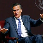 In this Jan. 28, 2015 file photo, former GOP presidential candidate Mitt Romney speaks at Mississippi State University in Starkville, Miss. Closing in on a decision about whether to again run for president, Mitt Romney is finding that several past major fundraisers and donors in key states have defected to former Florida Gov. Jeb Bush.