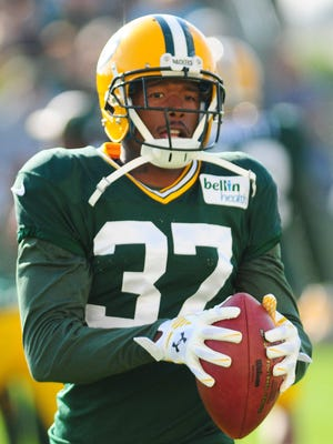 Packers cornerback Sam Shields during training camp practice at Ray Nitschke Field.