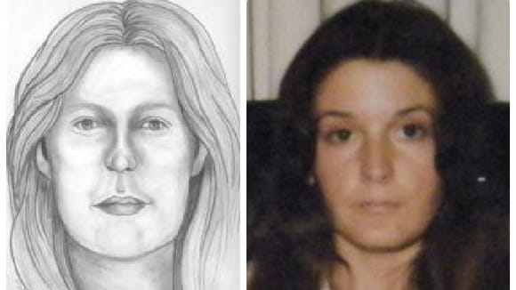 Woman on left is artist's reconstruction of face of skull found near Tampa, Fla., in 1975. Sharon Hensley, on right, disappeared in Florida in 1973.