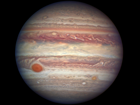 Jupiter taken by the Hubble Space Telescope.