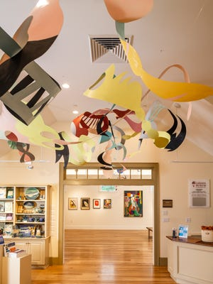 Adria Arch's installation loops through various rooms at the Cahoon Museum of American Art in Cotuit and will be on display all year.