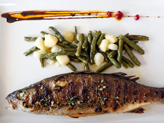 The branzino is photographed at Dubrovnik, the area's only Croatian restaurant  in New Rochelle.