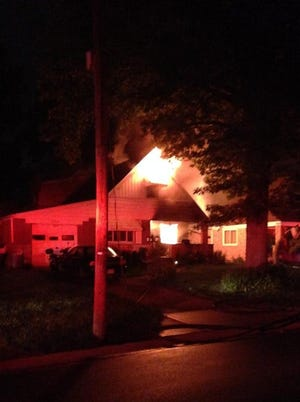 This fire broke out early Tuesday morning in Colerain Township.
