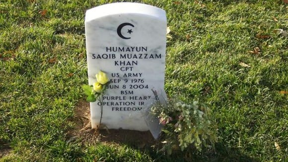 The grave of Capt. Humayun Khan at Arlington National