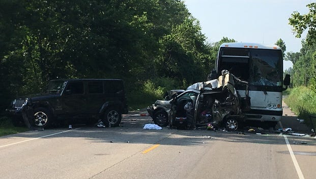 A bus crash north of Bloomington killed two women and a man from Greenwood on Saturday.