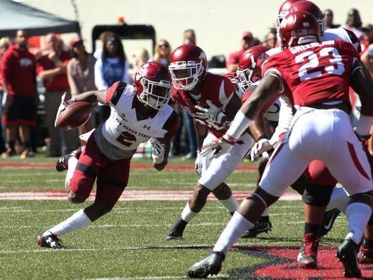 O.J. Clark caught his second touchdown pass of the season Saturday against Arkansas.