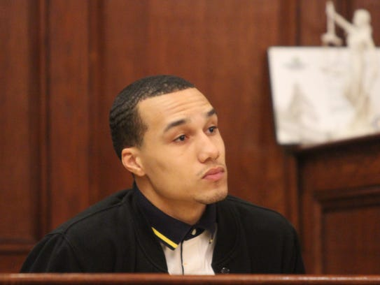 Damion Marsh testifies at the preliminary hearing of