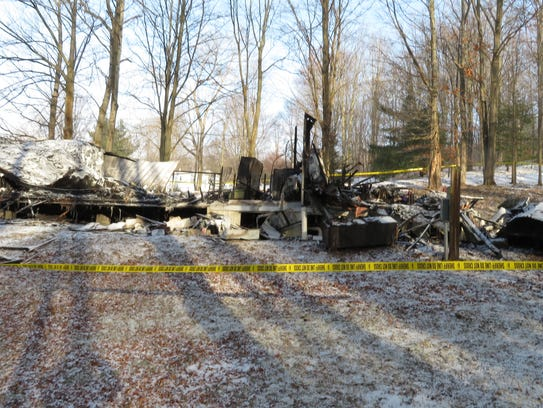The mobile home destroyed by the fire was located close to the intersection of Douglas Road and Ward Heights North.