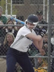 Freshman Maddy Ehlke accounted for three RBI in the