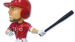 Adam Duvall bobblehead will be given away to the first