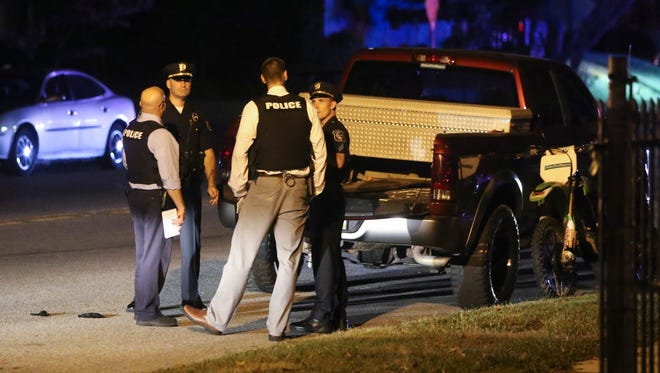 Wilmington police investigate a report of a shooting at 37th and Monroe Streets about 7:40 p.m. Tuesday.