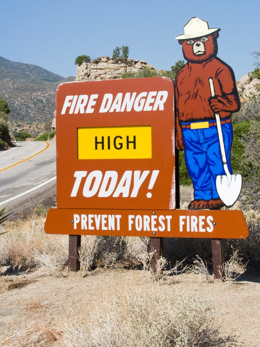 Forest fire sign