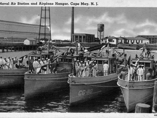 In the 1920s, the Coast Guard defended U.S. coastal waters from rumrunners and bootleggers. This undated photo was taken during the Prohibition era at the Coast Guard station in Cape May County, showing off some of the agency's fleet there.