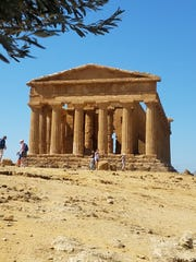 The most famous structure of the Valley of the Temples near Agrigento and one of the world's best-preserved Doric temples is the Greek Temple of Concordia.