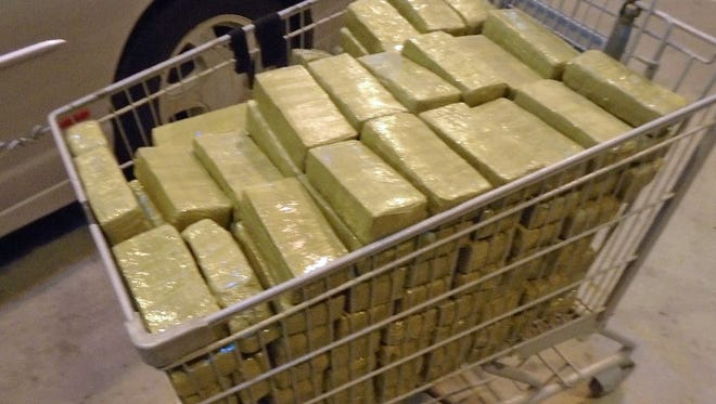 The 220 pounds of marijuana is worth an estimated $111,000, officials said.