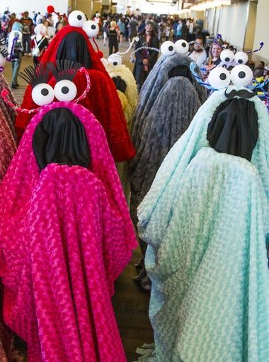 Yip Yips invade Phoenix Comicon , Saturday, May 27, 2017, at the Phoenix Convention Center.