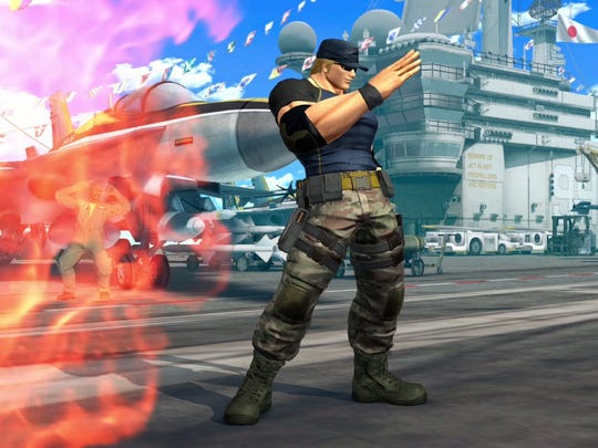 Do NOT get hugged by this guy in King of Fighters XIV.