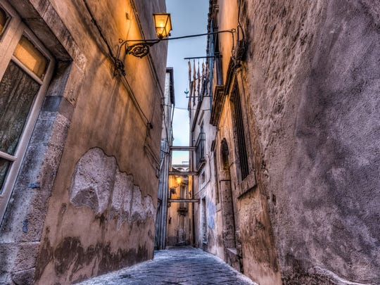 """""""Ortigia."""" Shot in Ortigia, Sicily, """"on a random street away from all the piazzas'"""" says Regna. """"Ortigia is a tiny island attached to Siracusa by two bridges. The streets are like labyrinths that go on and on."""""""