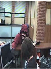 In this image from video surveillance at Chase Bank