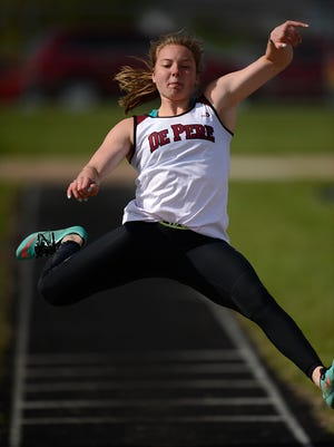 De Pere junior Sydney Otto leads the girls area honor roll in the long jump and is second in the triple jump, which she won on Tuesday at the Fox River Classic Conference championship meet.