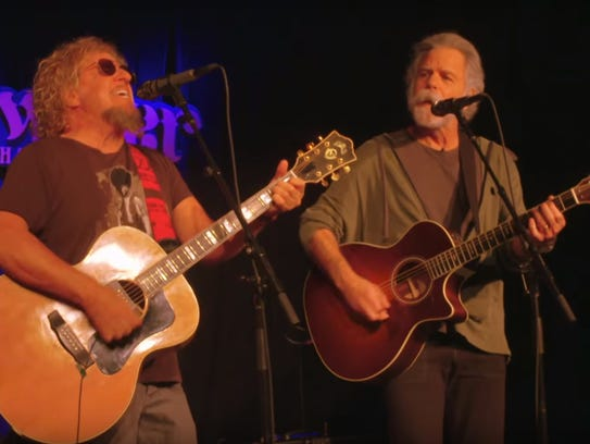 Sammy Hagar and Bob Weir play music during an episode