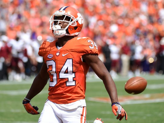 Clemson wide receiver Ray-Ray McCloud (34) would have