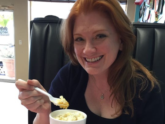 "Christina LaFortune, who hosts ""The FLORIDA TODAY Show"" Sundays on WEFS, tries the Budder Beer shaved ice at Oasis Shaved Ice in Cocoa Beach."