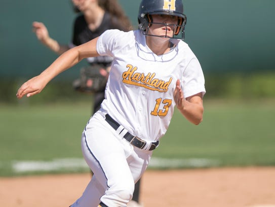 Hartland's Madelin Skene advances from first to third
