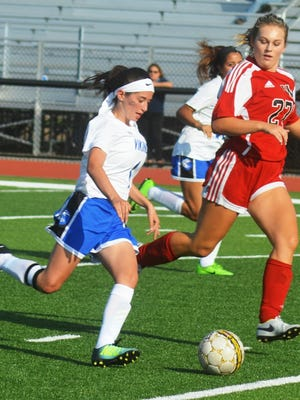 North Arlington senior center midfielder Kaitlyn Stajek (left) was named second-team all-division after collecting 10 goals and seven assists.