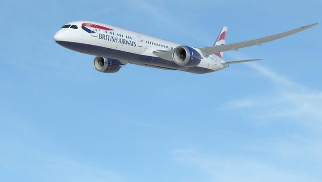 An image of a British Airways Boeing 787-9.