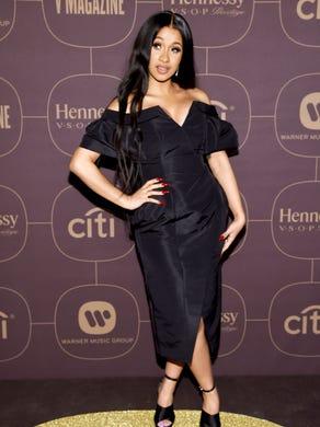 NEW YORK, NY - JANUARY 25:  Cardi B attends the Warner