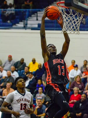 Northeastern's Kobi Nwandu scored a game-high 14 points in the Bobcats' 76-47 thrashing of York High in the quarterfinals of the York-Adams League playoffs. Northeastern will face Spring Grove in Tuesday's semifinals.
