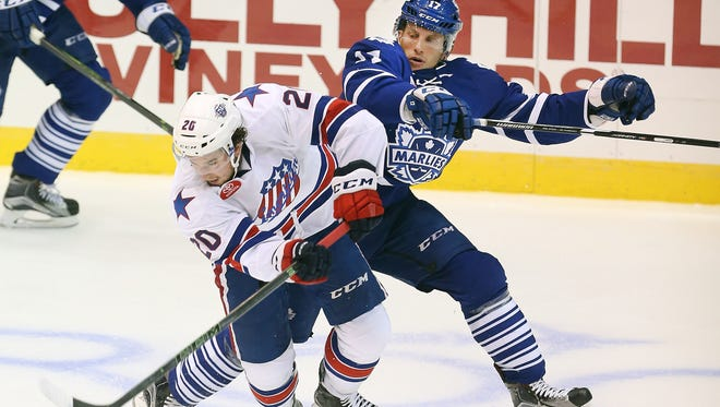 Right winger Jason Akeson is second on the Amerks in scoring with 7 goals, 18 assists and 25 points in 42 games.