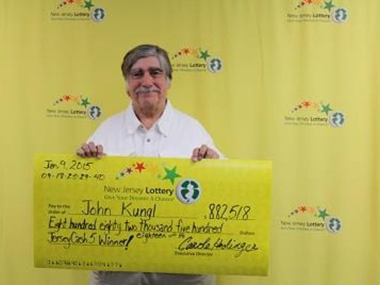 John Kungl, just shy of his 70th birthday, is celebrating early with his Jersey Cash 5 win of $882,518.