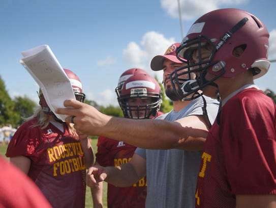 Roosevelt High School practices Friday, Aug. 11, at