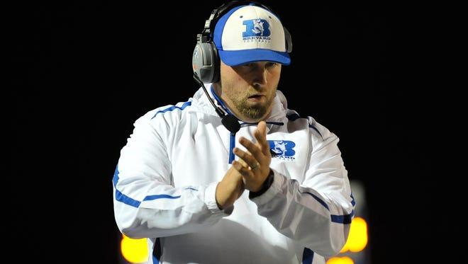 Brevard football coach Craig Pritchett